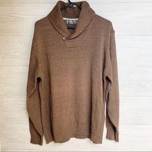 Oscar De La Renta Men's Brown Pullover Sweater